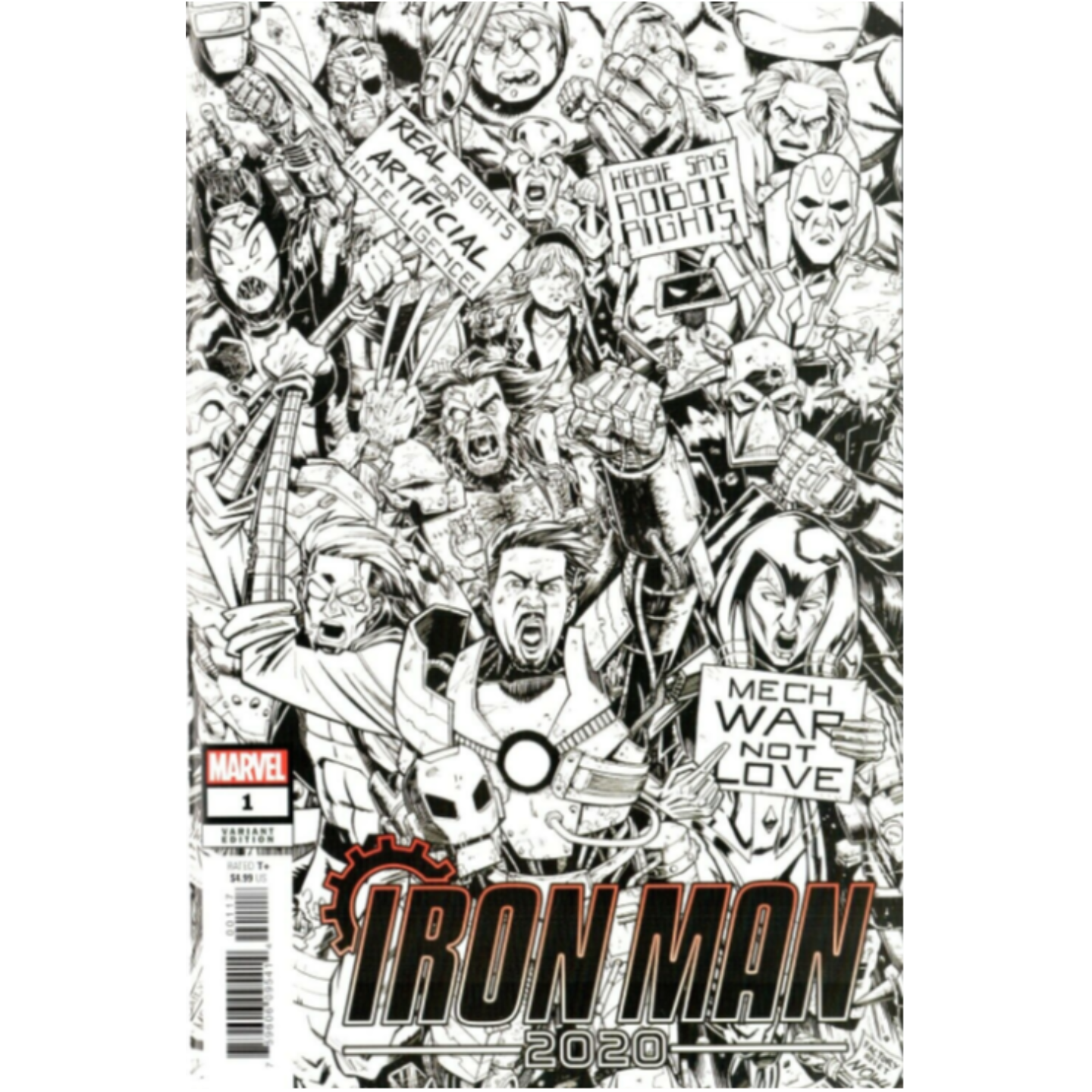 IRON MAN 2020 #1 - B&W PARTY VARIANT