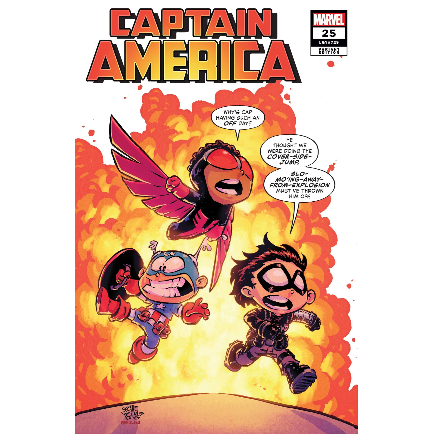 CAPTAIN AMERICA #25 YOUNG VAR