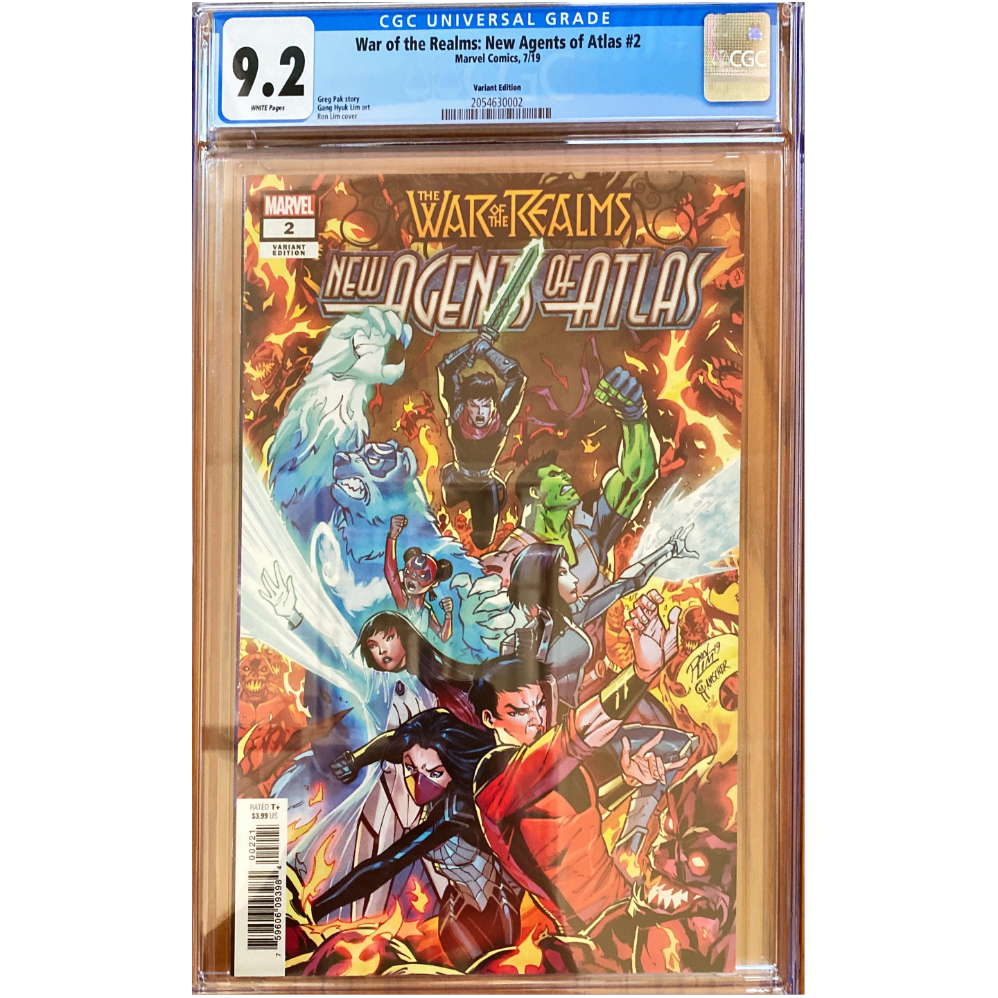 WAR OF THE REALMS :NEW AGENTS OF ATLAS #2 (1:25) CGC 9.2