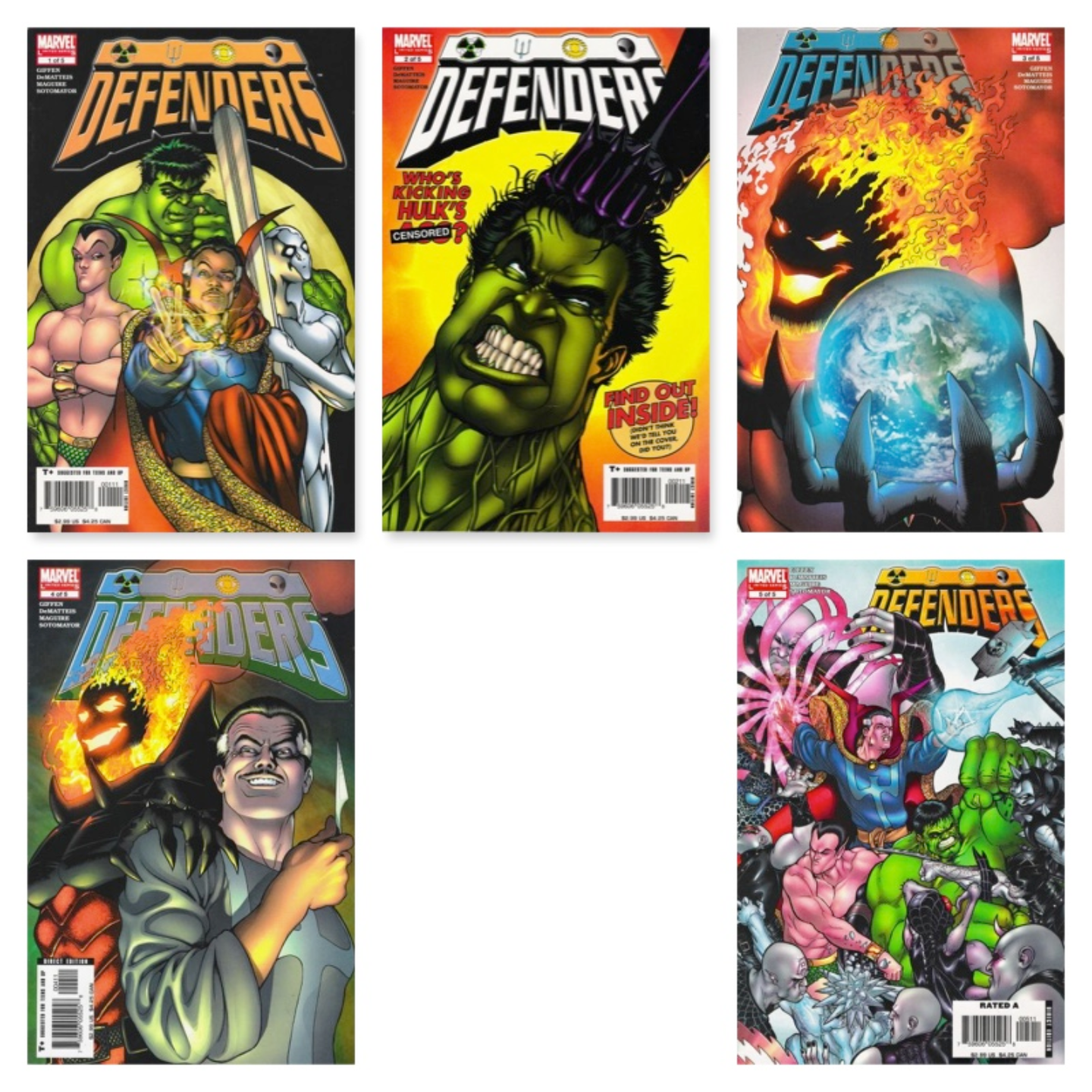 DEFENDERS #1 - #5 (COMPLETE LIMITED SERIES)