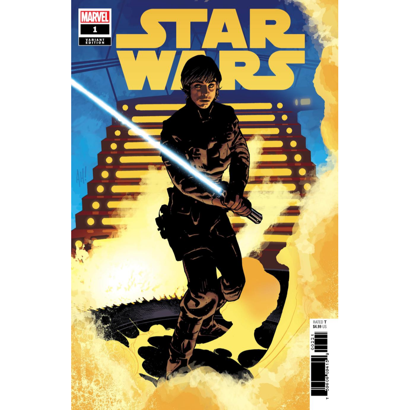 STAR WARS #1 - ADAM HUGHES LUKE SKYWALKER VARIANT
