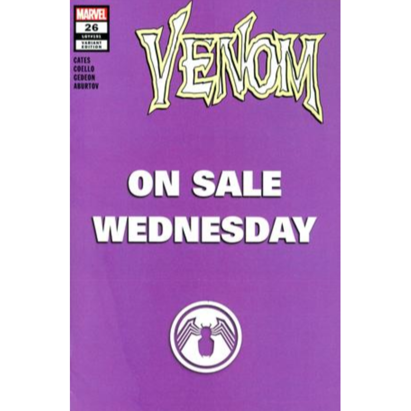 VENOM #26 MARVEL WEDNESDAY VAR