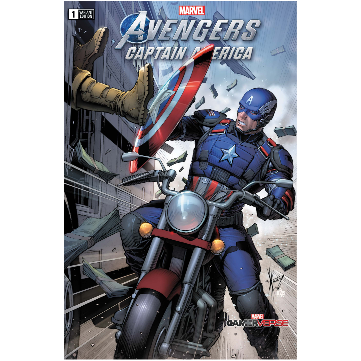 MARVELS AVENGERS CAPTAIN AMERICA 1 KEOWN VAR