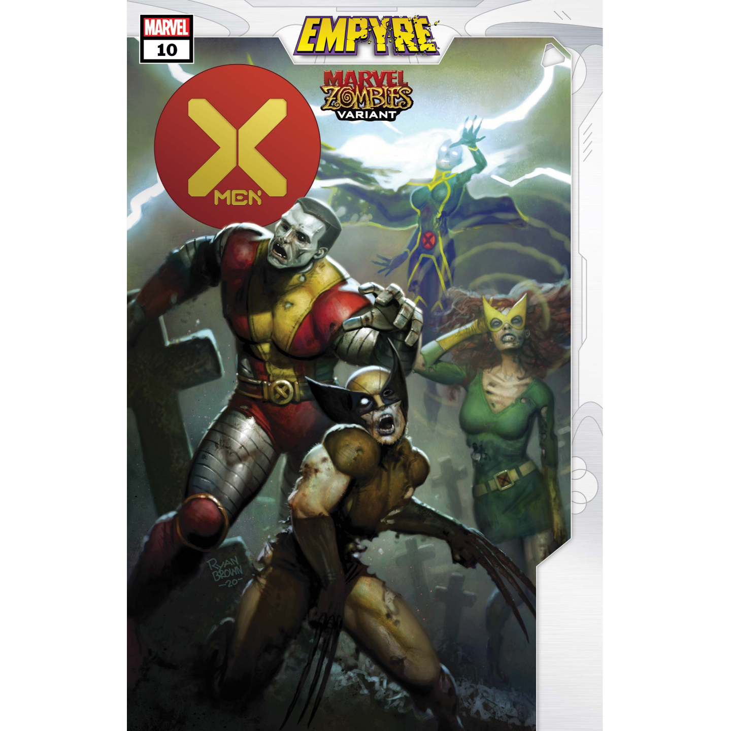 X-MEN #10 BROWN MARVEL ZOMBIES VAR EMP