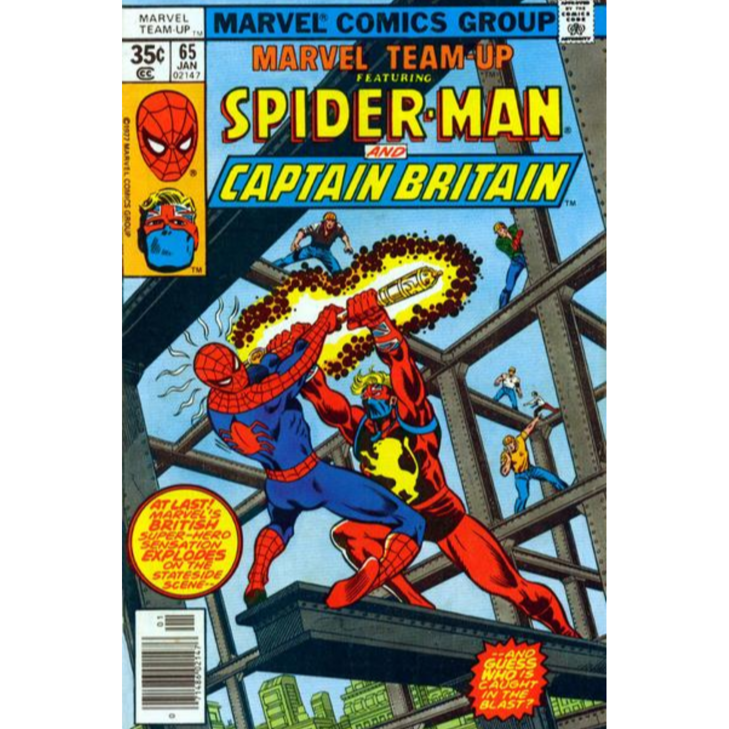 MARVEL TEAM UP FEATURING SPIDERMAN AND CAPTAIN BRITAIN #65 (KEY ISSUE)