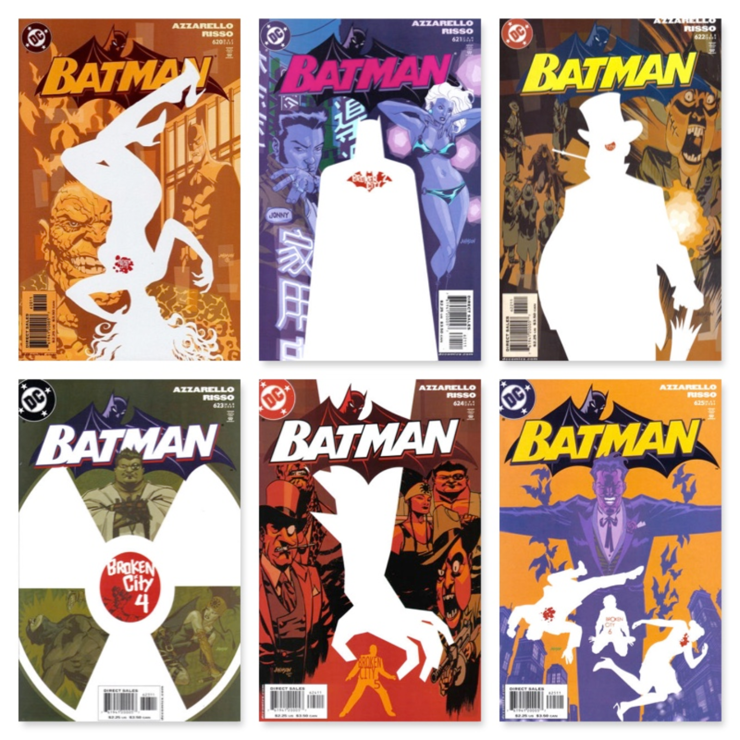 BATMAN #620 - #625 (6 PART STORY)