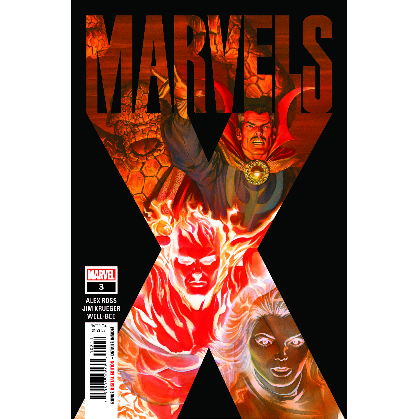 MARVELS X 3 OF 6