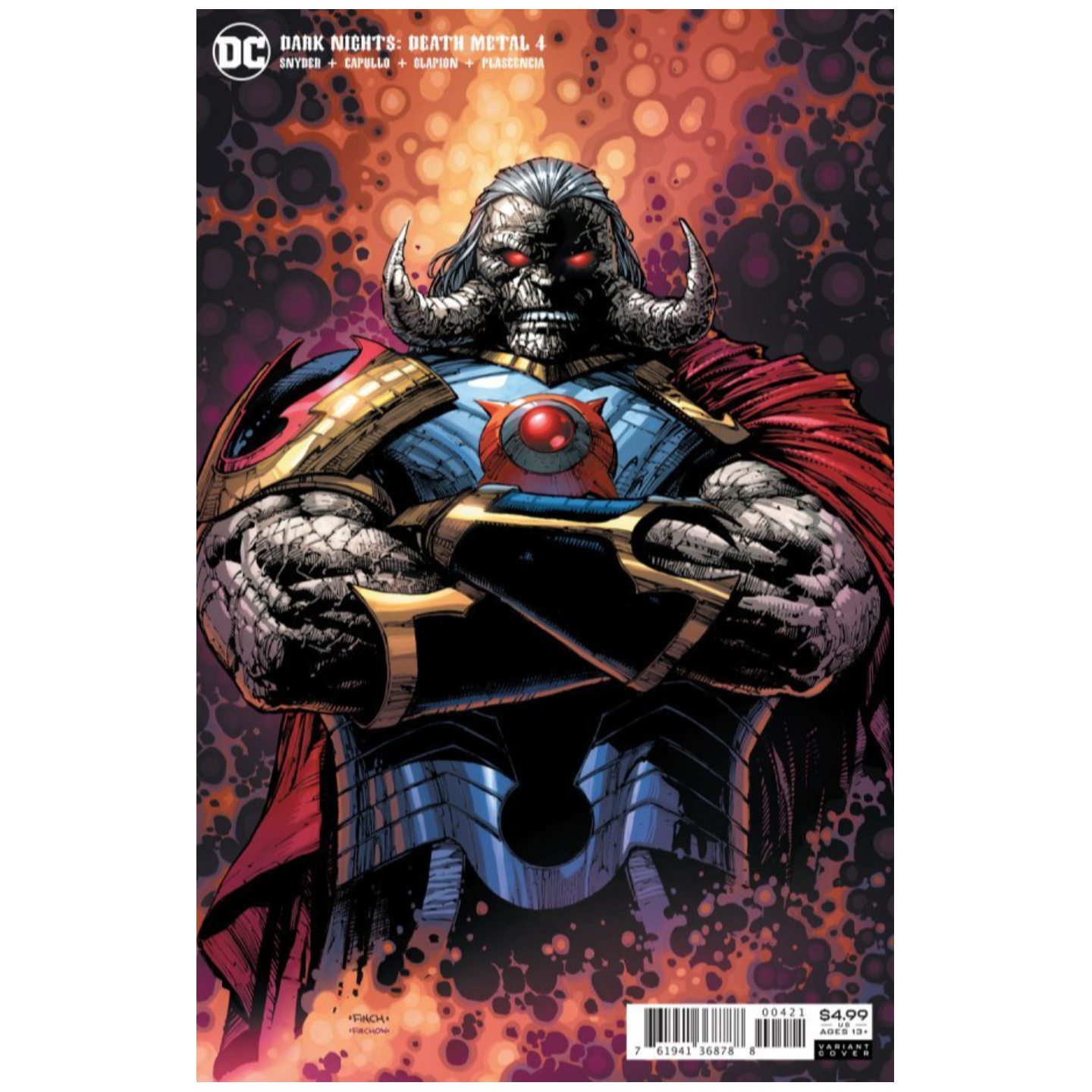 DARK NIGHTS DEATH METAL #4 (OF 7) CVR B DAVID FINCH DARKSEID VAR