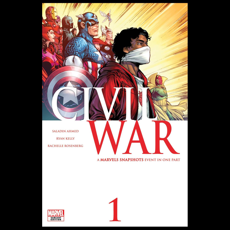 CIVIL WAR MARVELS SNAPSHOTS #1 KELLY VAR