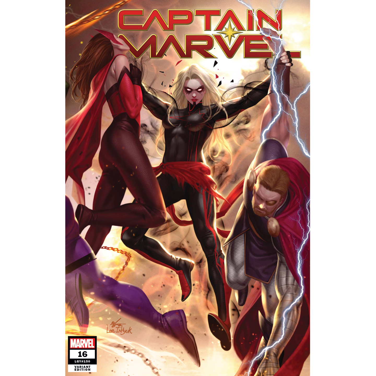 CAPTAIN MARVEL #16 INHYUK LEE CONNECTING VAR