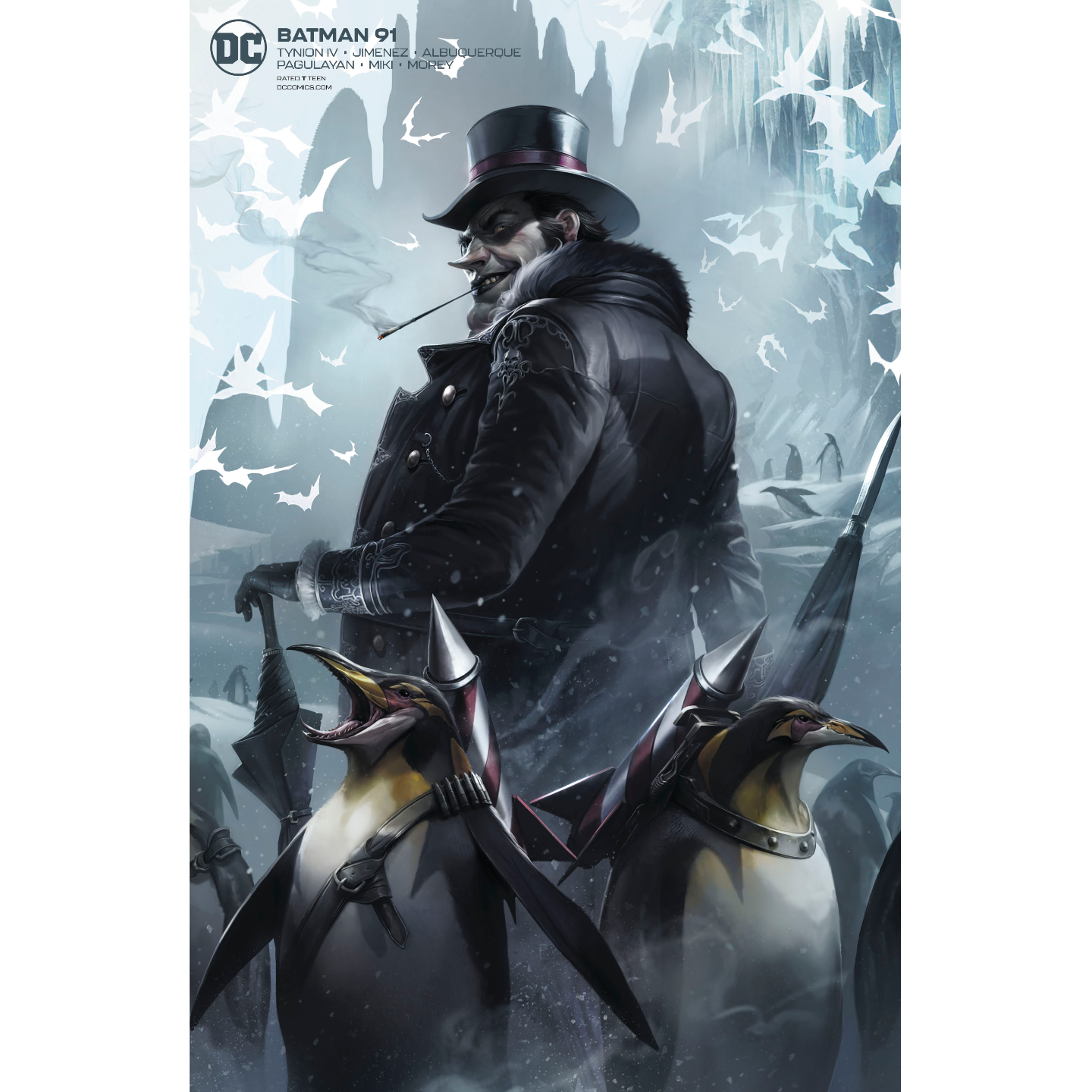 BATMAN #91 CARD STOCK FRANCESCO MATTINA VAR ED