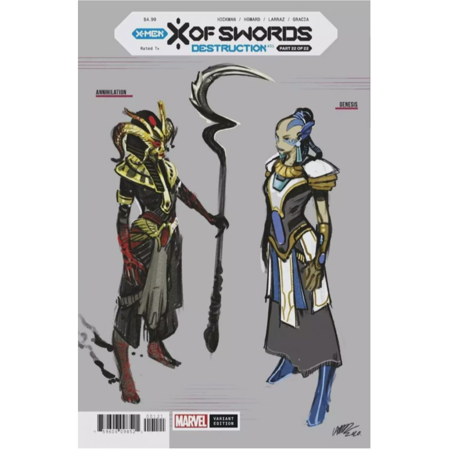 X OF SWORDS DESTRUCTION #1 LARRAZ DESIGN VAR