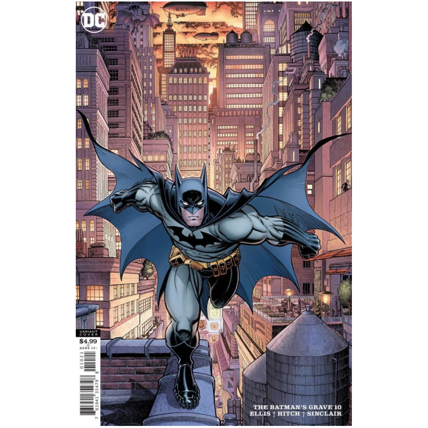 BATMANS GRAVE #10 (OF 12) CVR B ARTHUR ADAMS CARD STOCK VAR