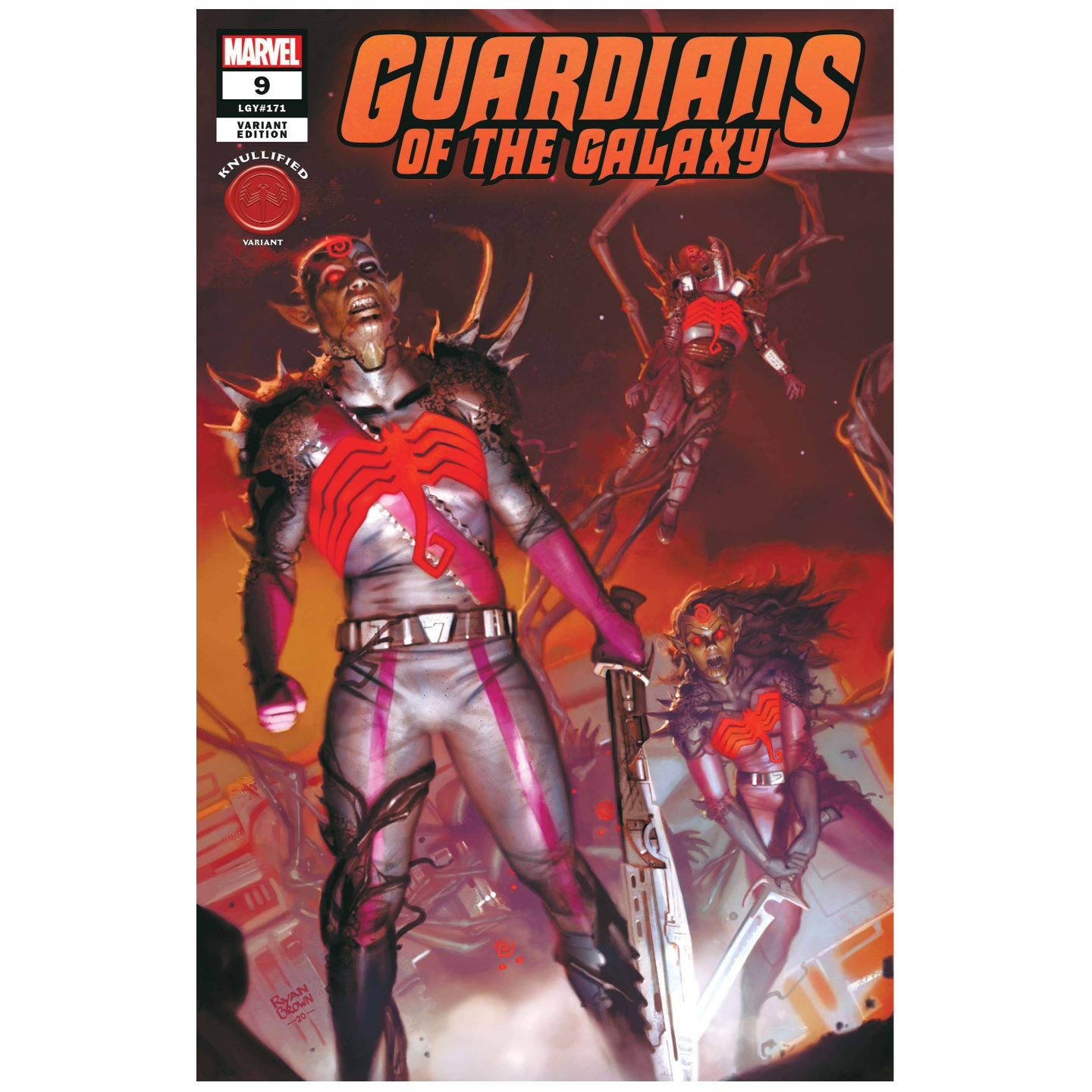 GUARDIANS OF THE GALAXY #9 BROWN KNULLIFIED VAR