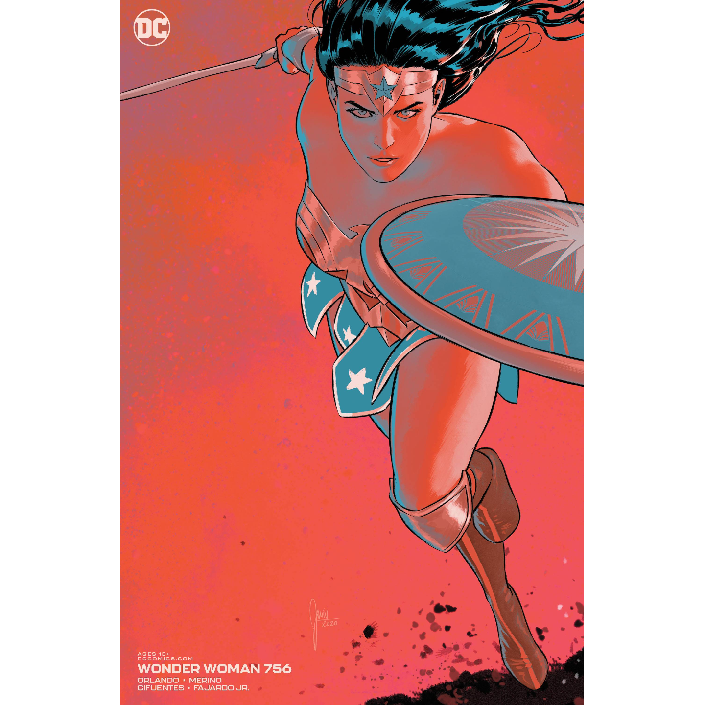 WONDER WOMAN #756 CARD STOCK MIKEL JANIN VAR ED