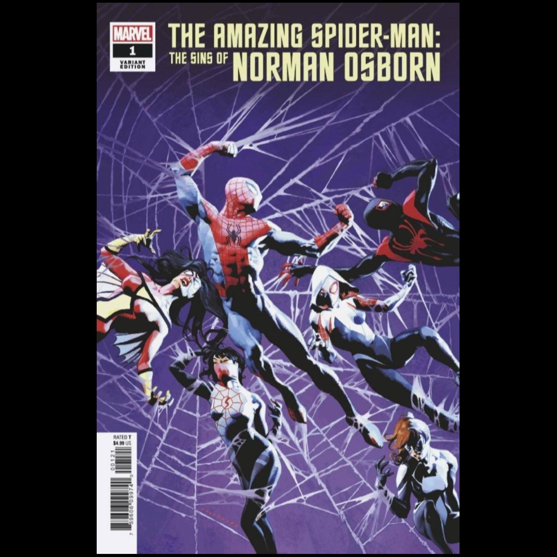 AMAZING SPIDER-MAN SINS OF NORMAN OSBORN #1 CASANOVAS VAR