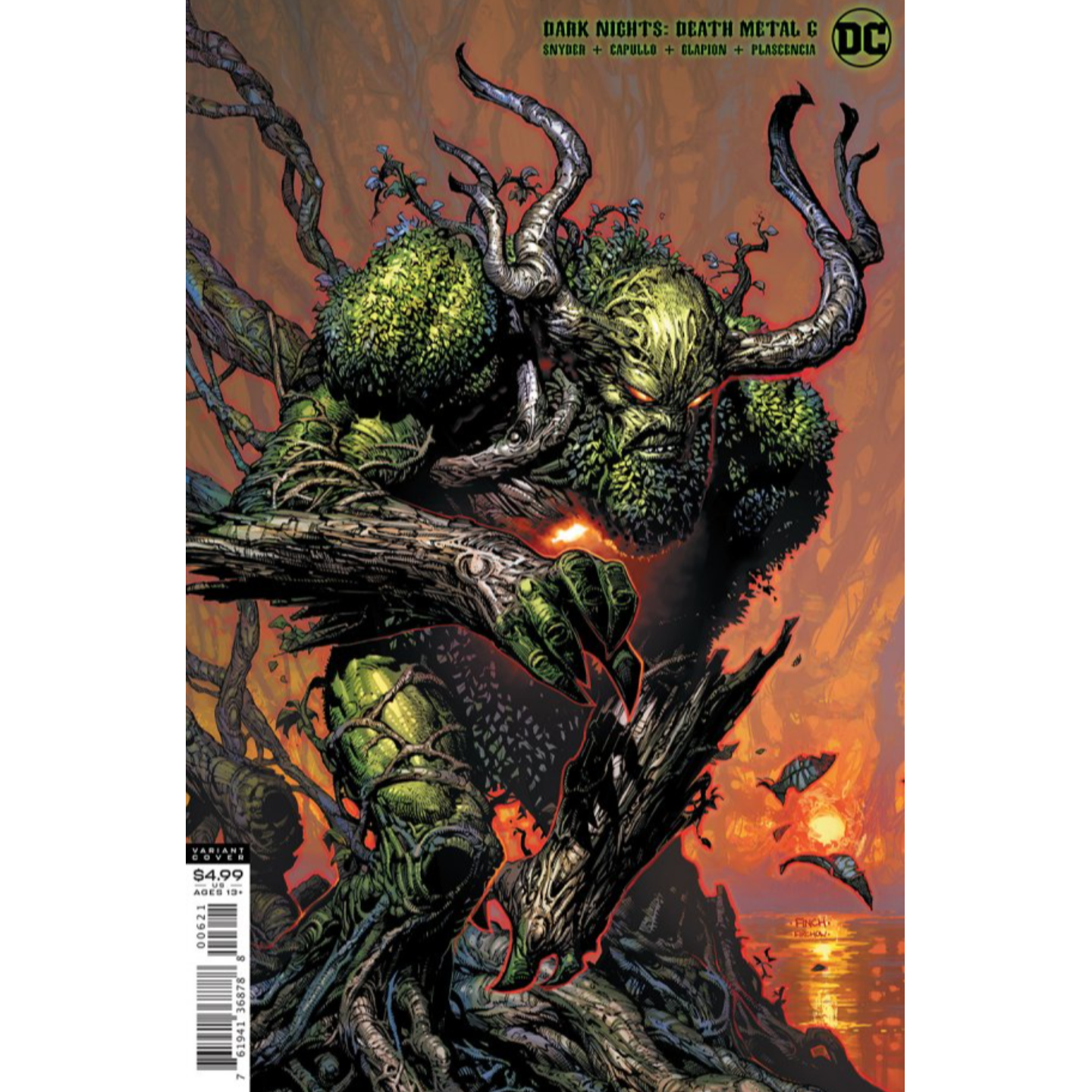 DARK NIGHTS DEATH METAL #6 (OF 7) CVR B DAVID FINCH SWAMP THING VAR