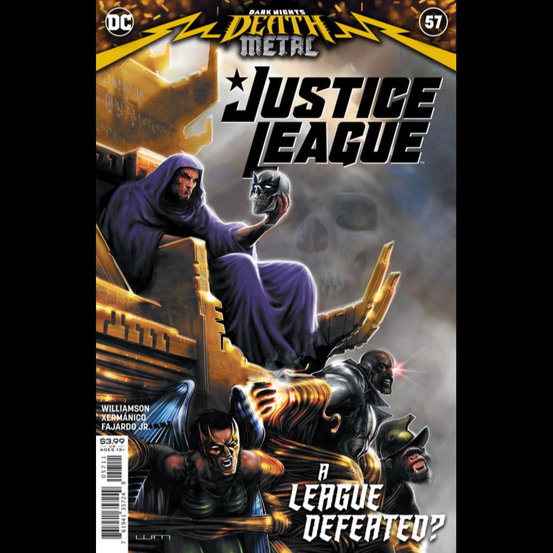 JUSTICE LEAGUE #57 CVR A LIAM SHARP (DARK NIGHTS DEATH METAL)