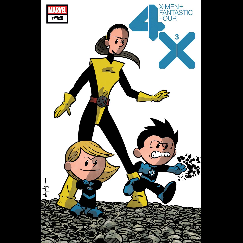 X-MEN FANTASTIC FOUR 3 OF 4 ELIOPOULOS VAR