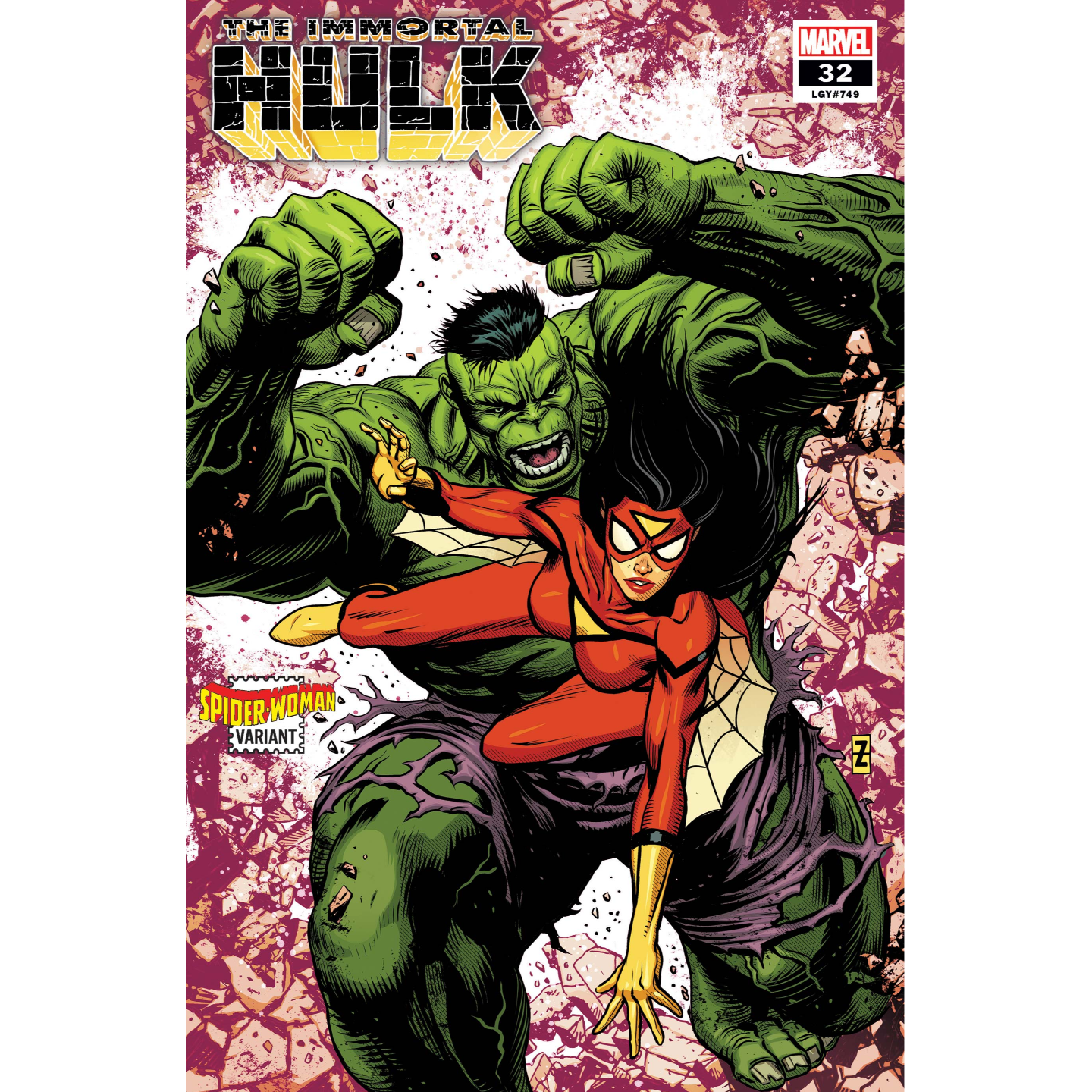 IMMORTAL HULK 32 ZIRCHER SPIDER-WOMAN VAR