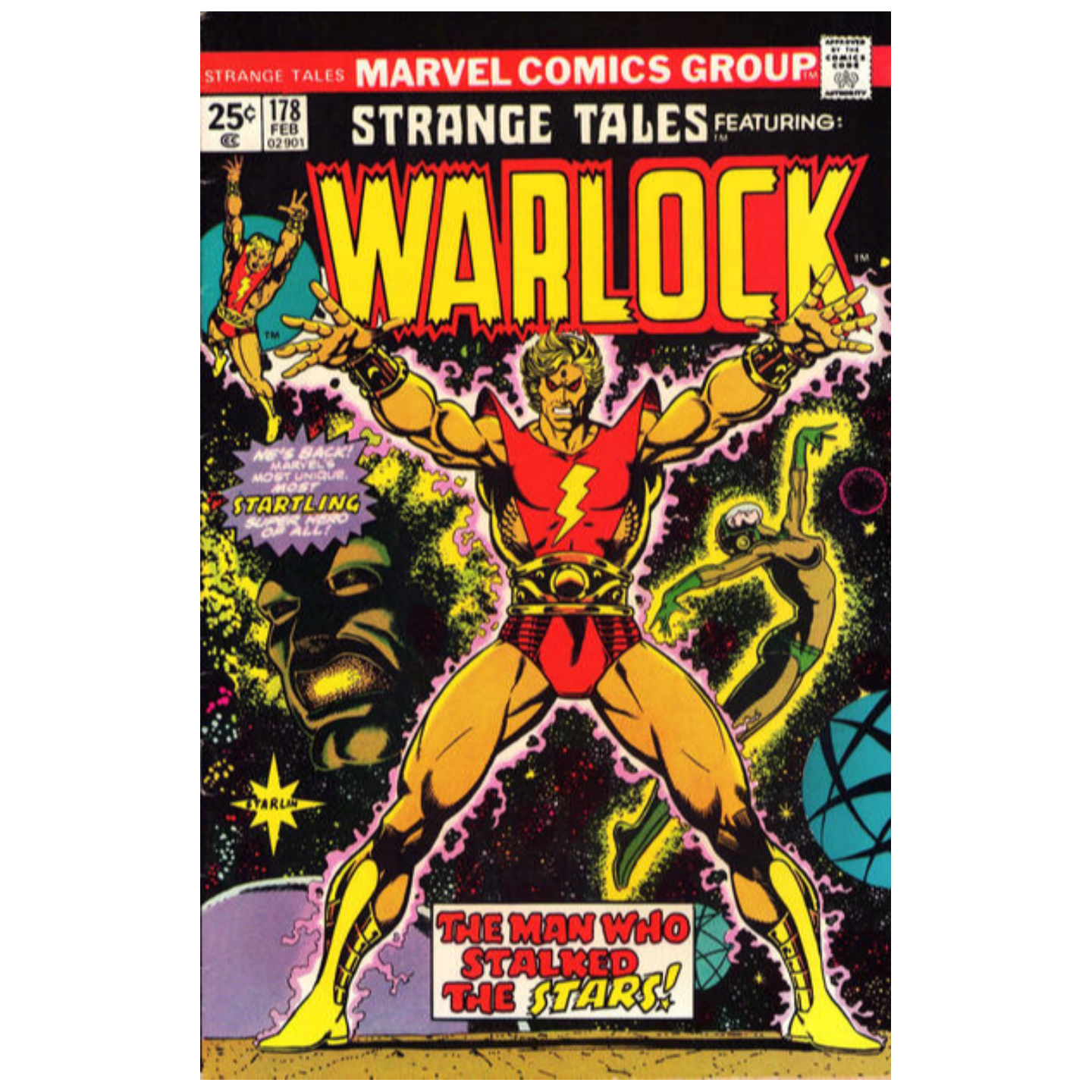 STRANGE TALES FEATURING WARLOCK 178 KEY ISSUE
