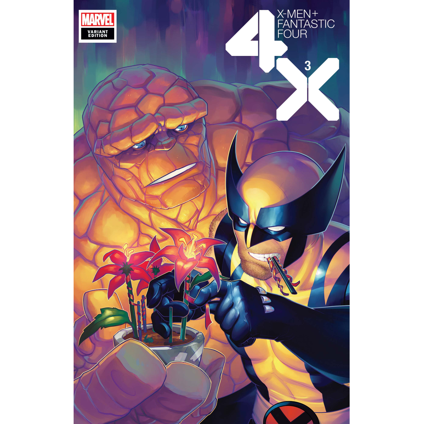 X-MEN FANTASTIC FOUR #3 (OF 4) HETRICK FLOWER VAR