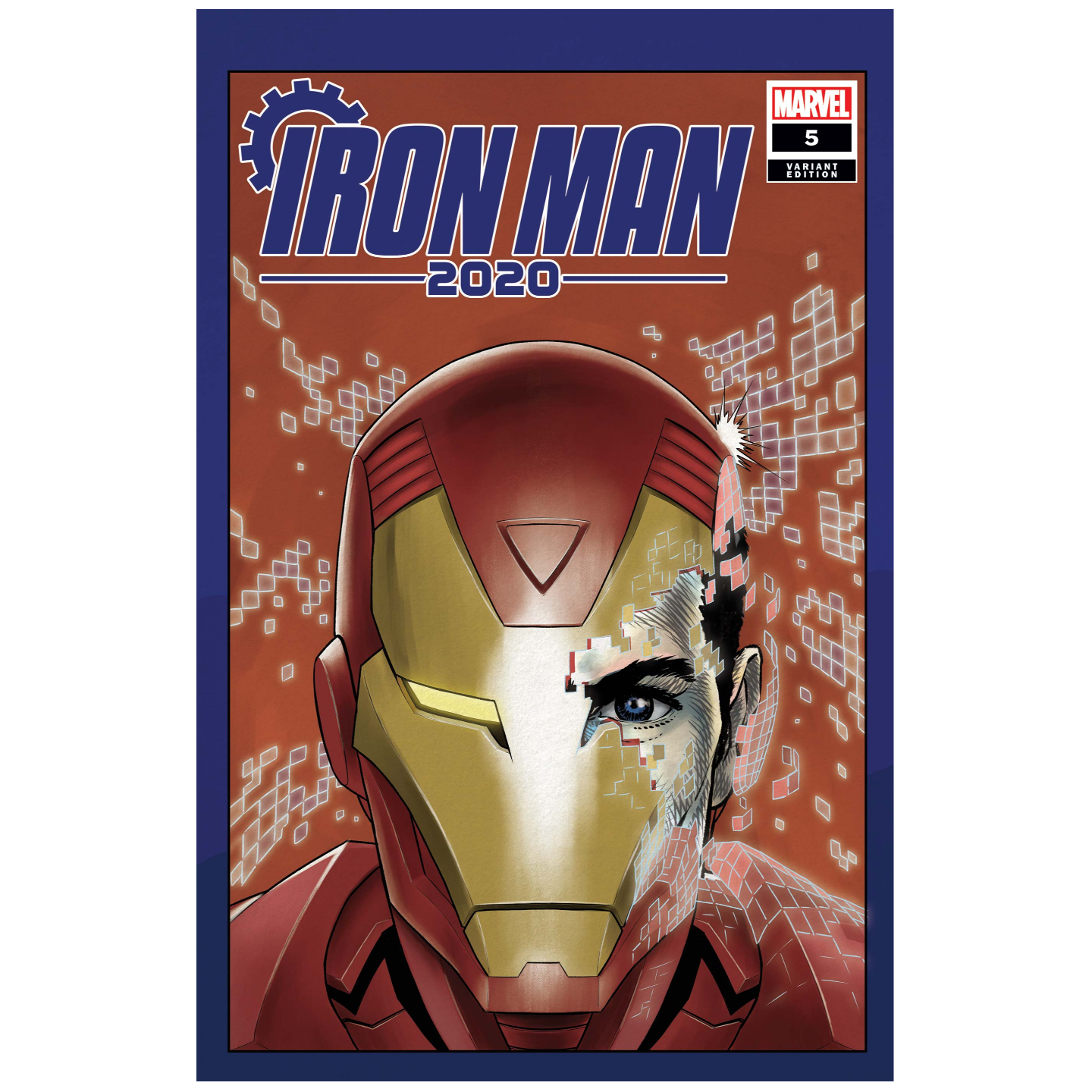 IRON MAN 2020 #5 (OF 6) SUPERLOG HEADS VAR