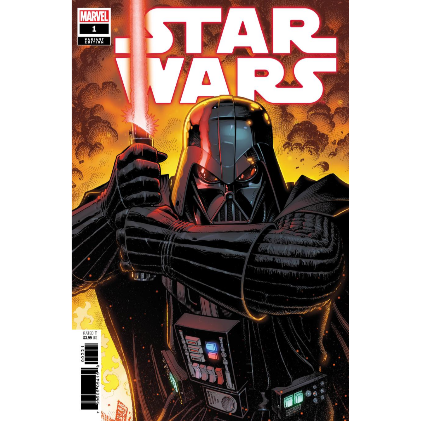STAR WARS 1 - ARTHUR ADAMS VARIANT COVER