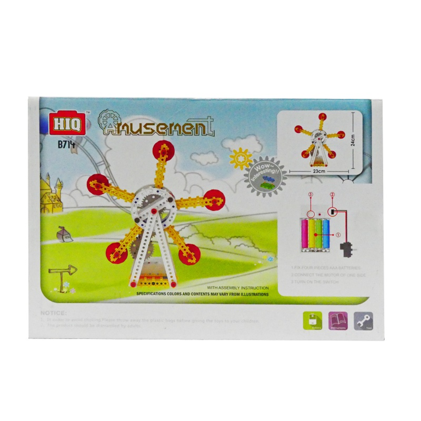 Play N Learn DIY Battery Operated Amusement Flyer
