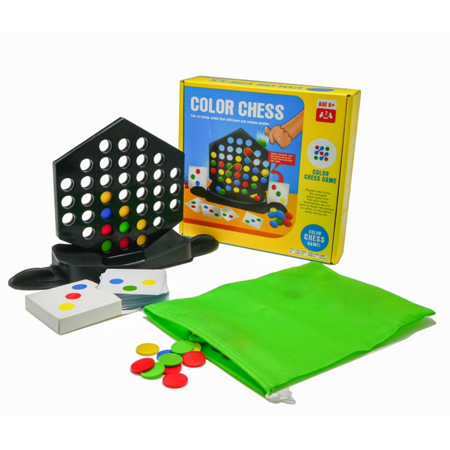 Play N Learn Colour Chess Game Strategic Family Board Game