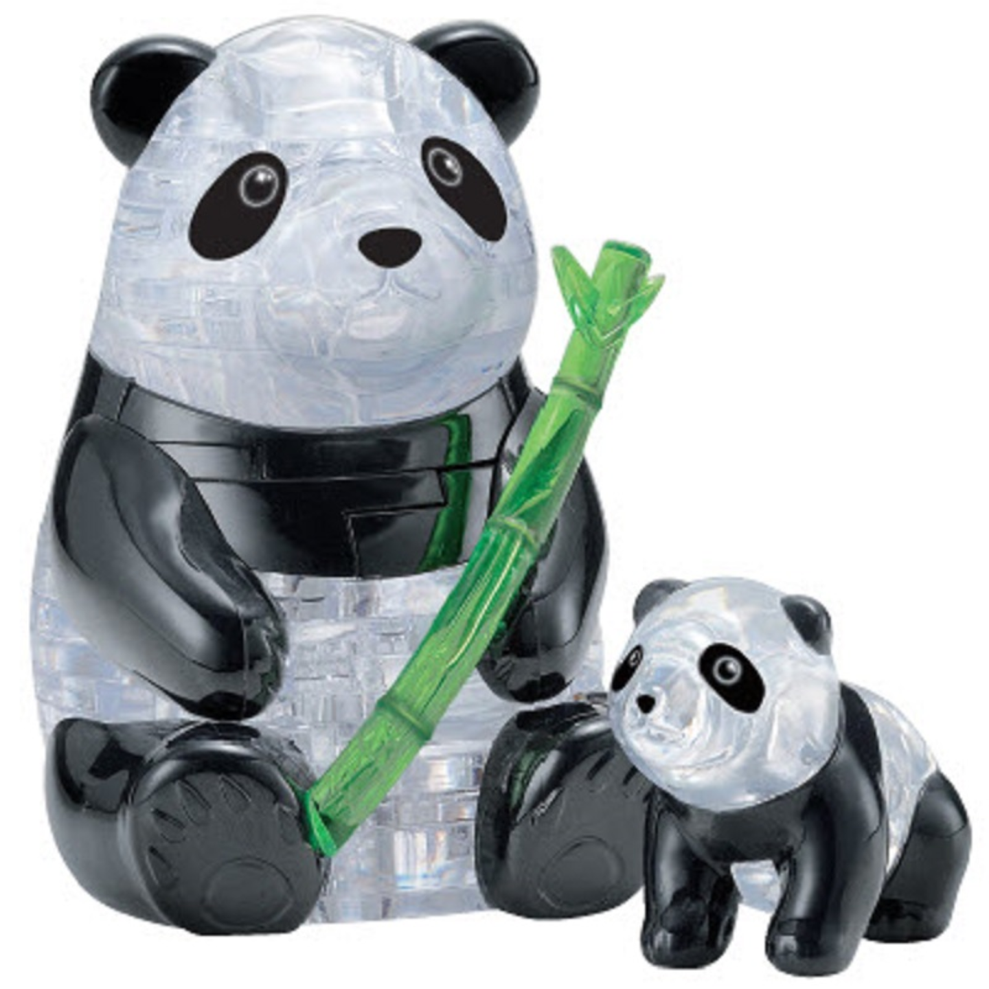 Jigsaw Puzzle Play N Learn 3D Crystal Puzzle Panda & Baby Set