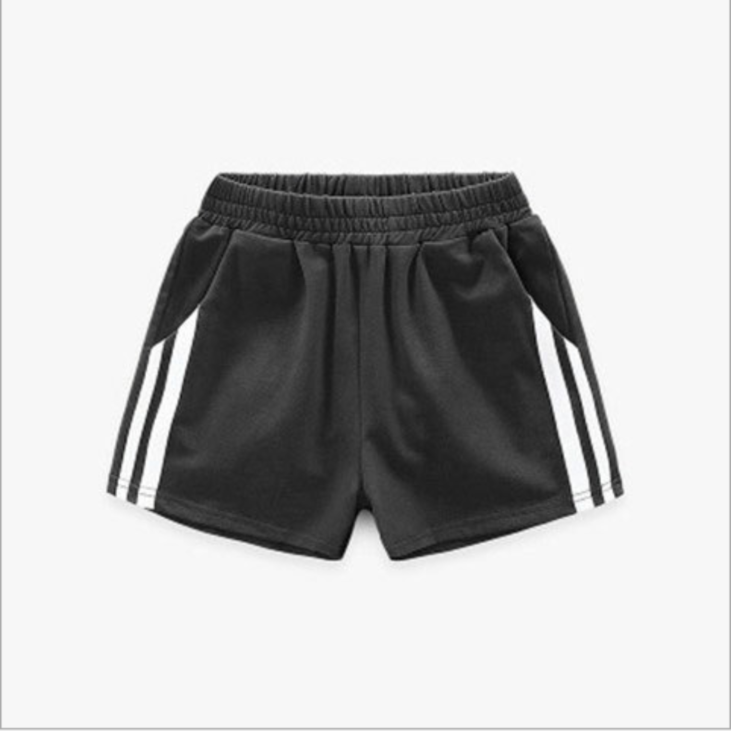 Children's Cotton Sports Shorts Black