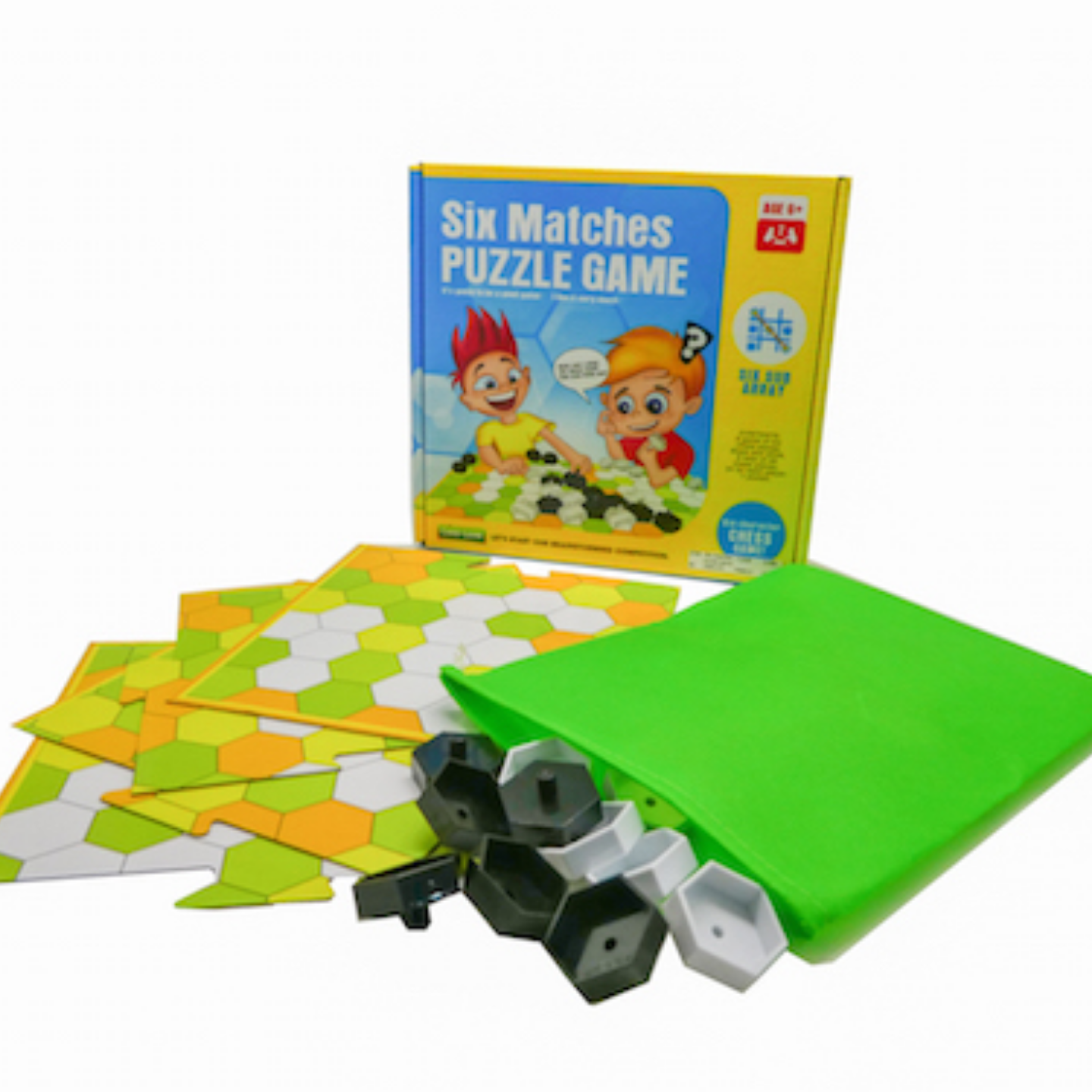 Play N Learn Six Matches Puzzle Strategic Family Board Game