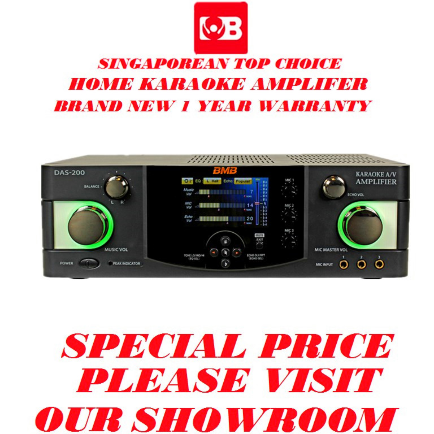 BMB Karaoke Digital Amplifer DAS-200SE