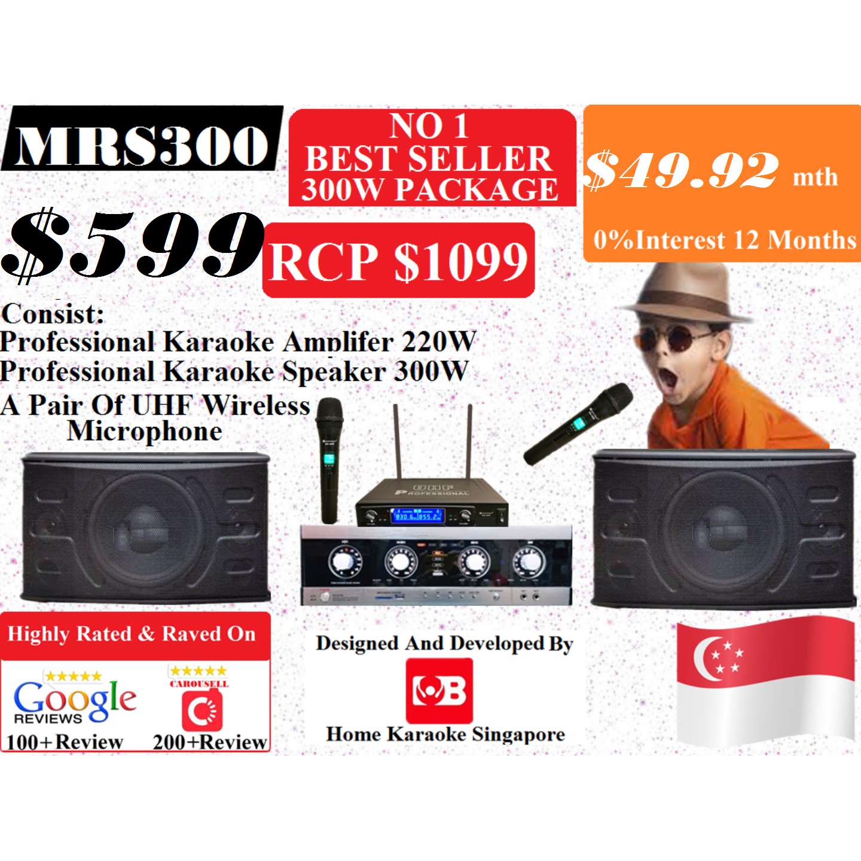 [SG] MB Karaoke MRS300 Professional Karaoke System Package