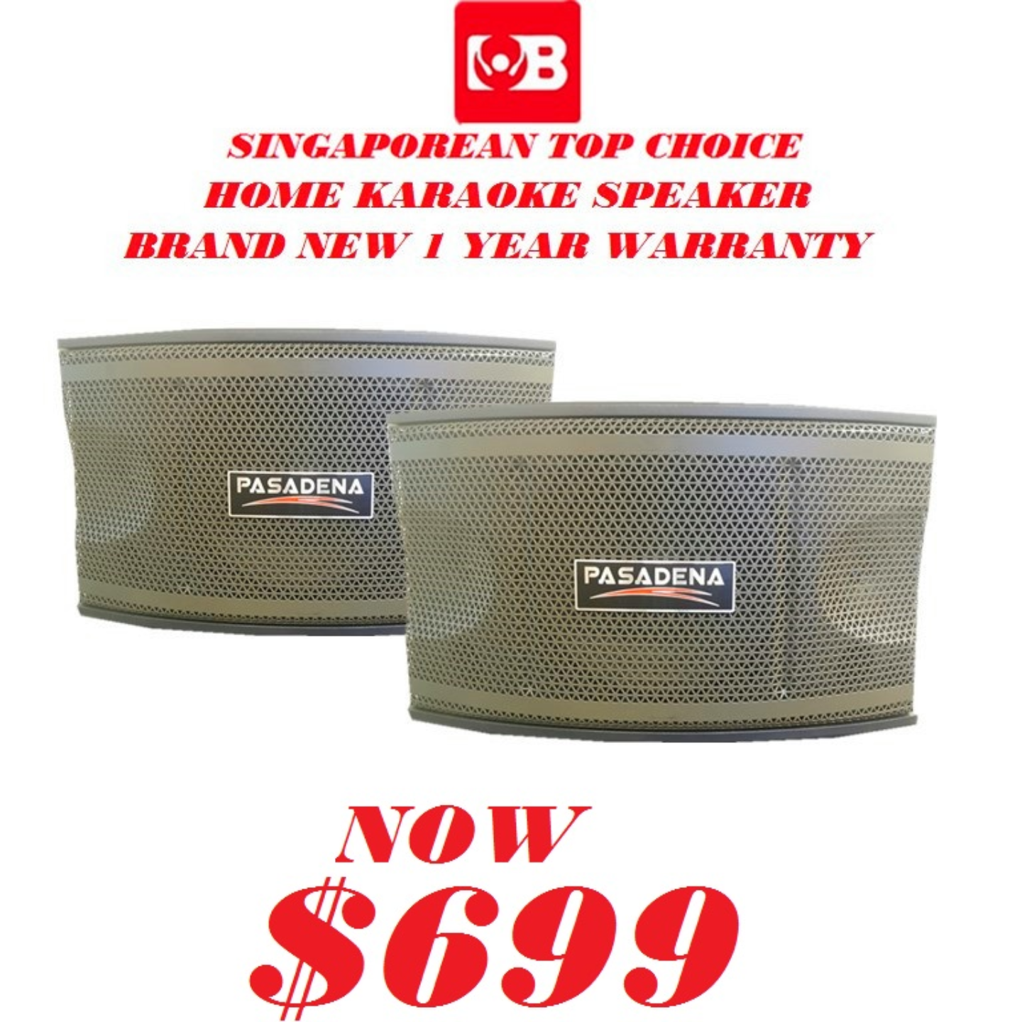 PASADENA KARAOKE SPEAKER MODEL SP3