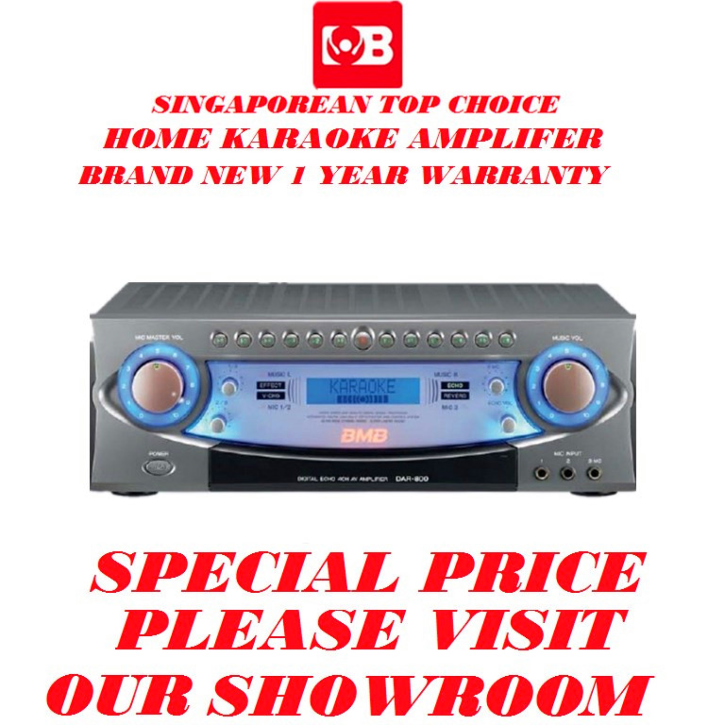 BMB Digital Karaoke Amplifer DAR-800