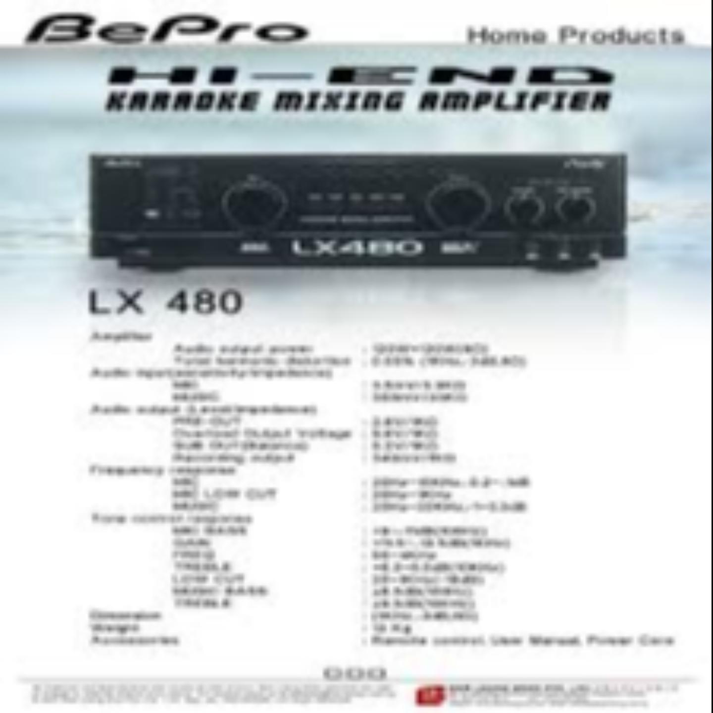Bepro Karaoke Amplifer Model-LX480