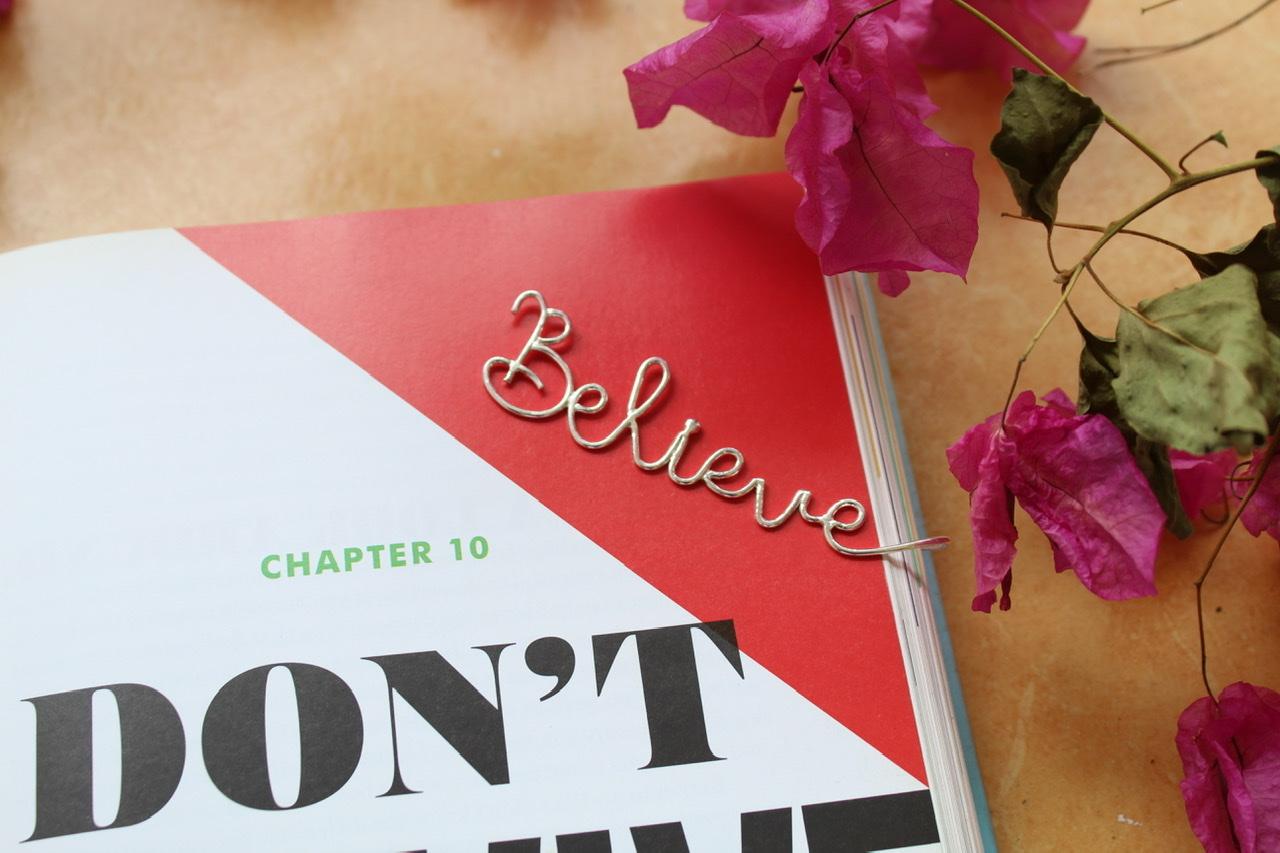 Believe Bookmark