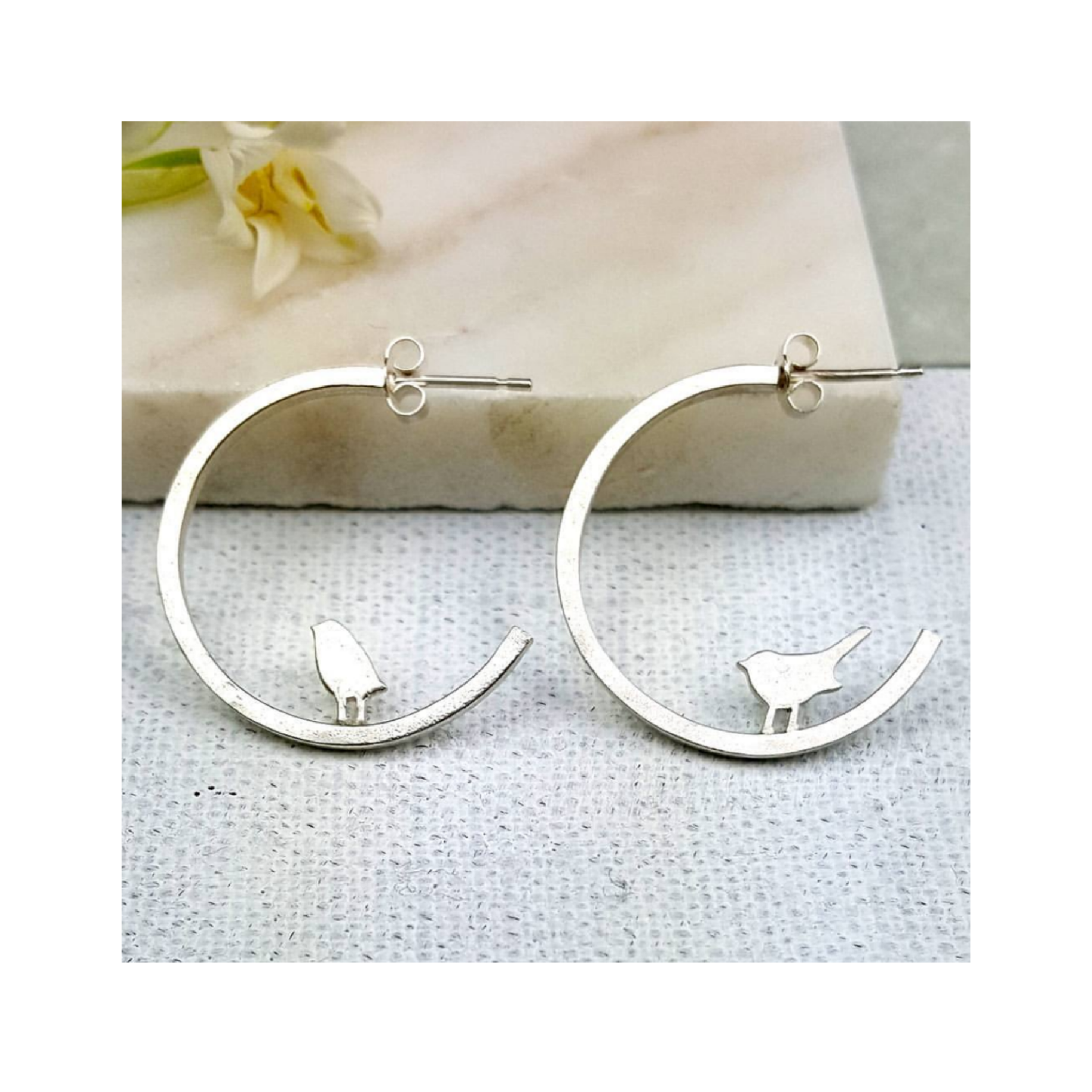 Mismatch Tiny Bird Hoops