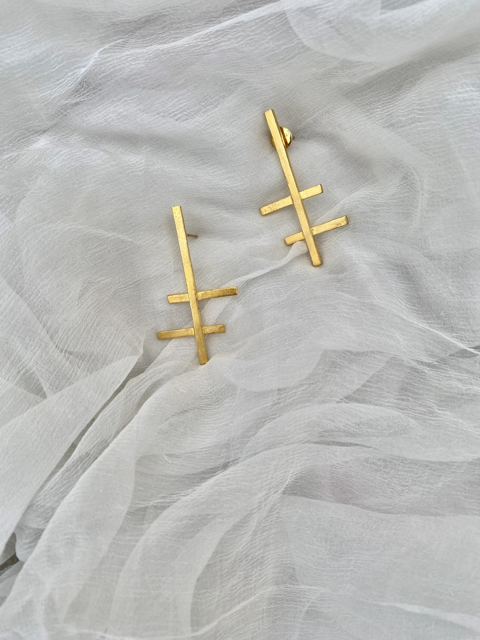Cross Line Earrings