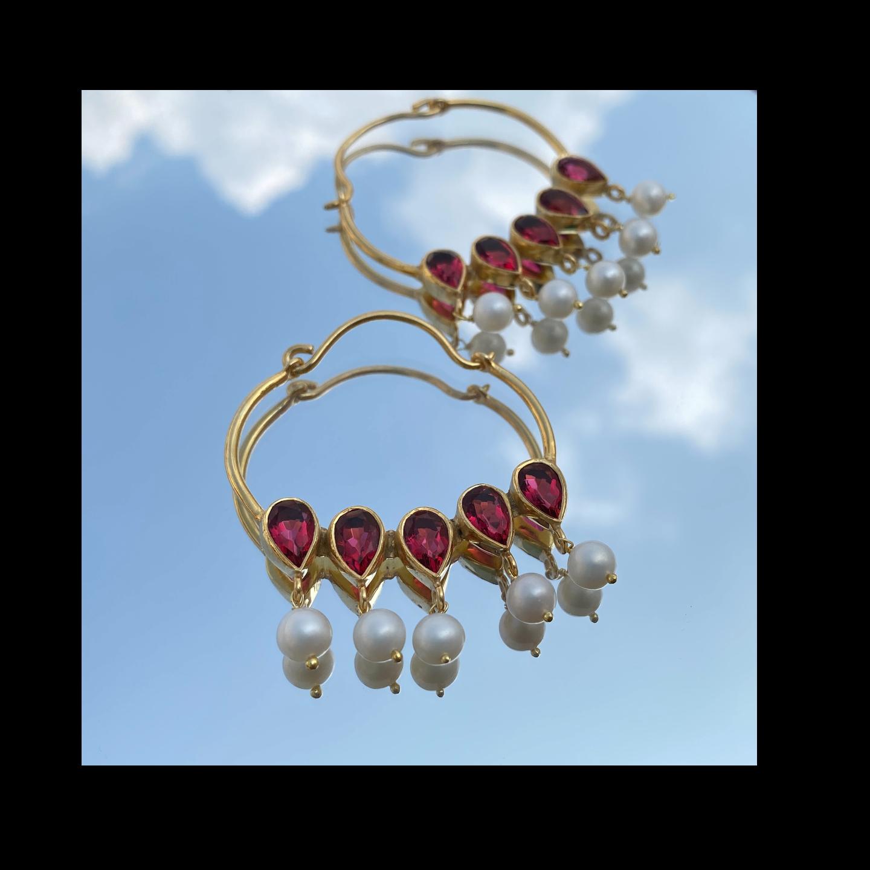 Nazaakat Earrings Rubies