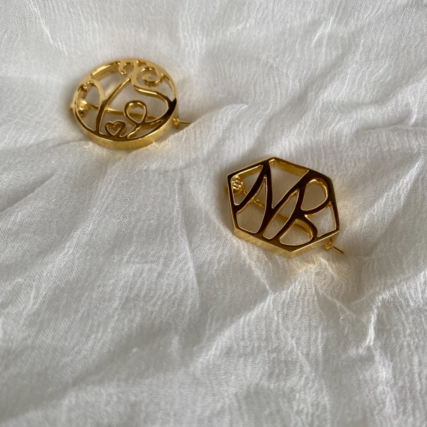 Monogram Brooch
