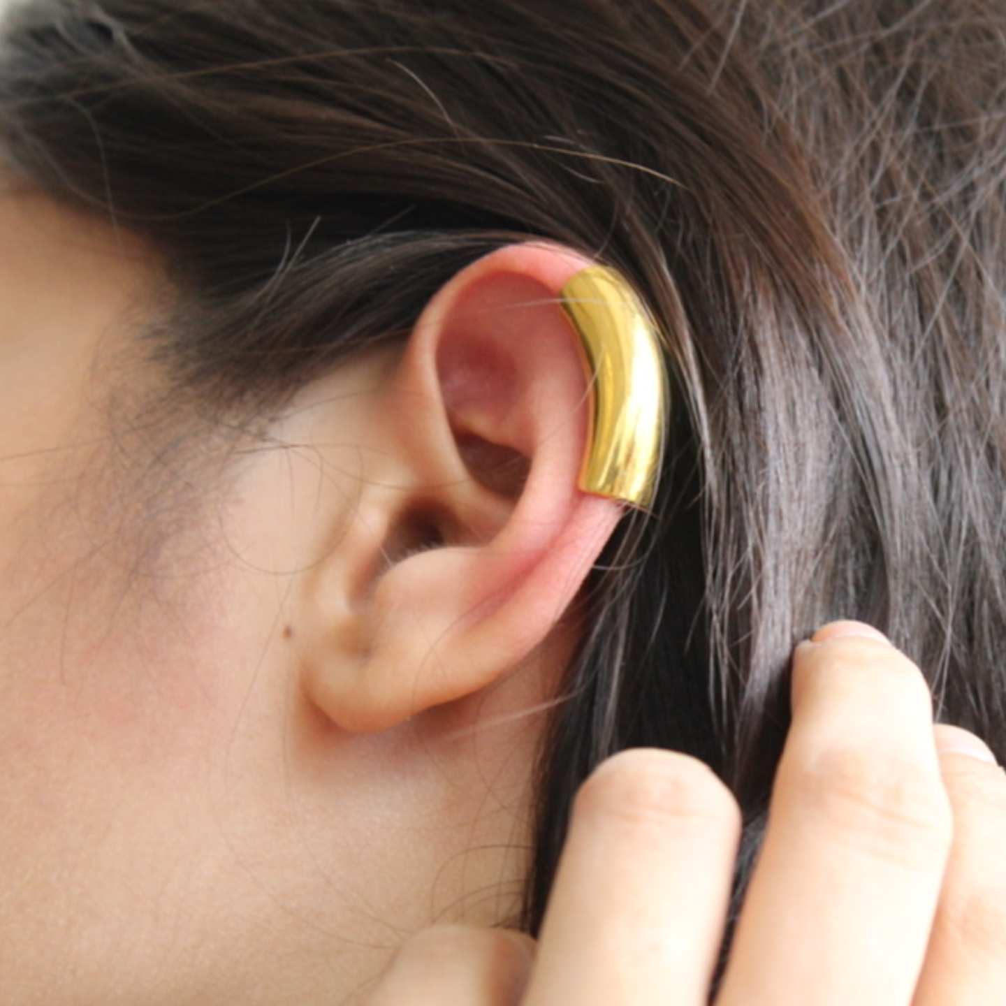 Flow Ear cuff- Gold