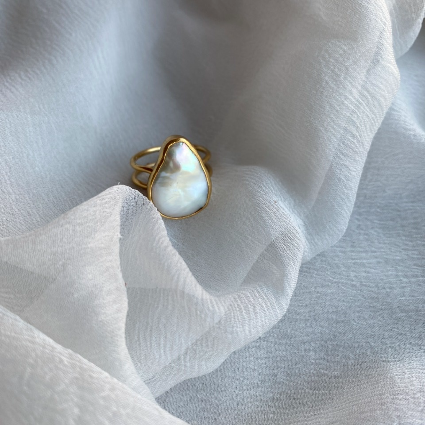 Uneven Pearl Ring