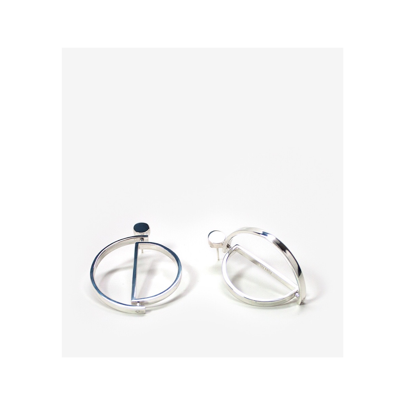 Mis-match Movil Earrings  - Silver