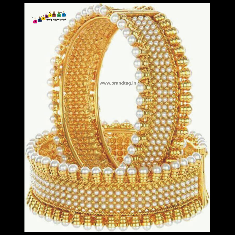 Alluring Golden Pearl Kada!!