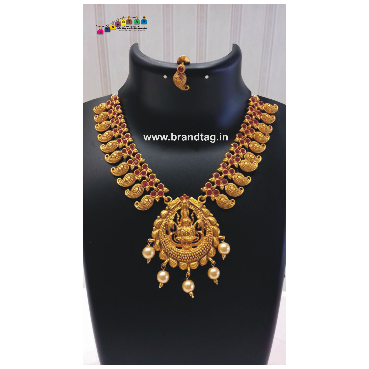 Diwali Collection - Laxmi Maa Golden Necklace set!