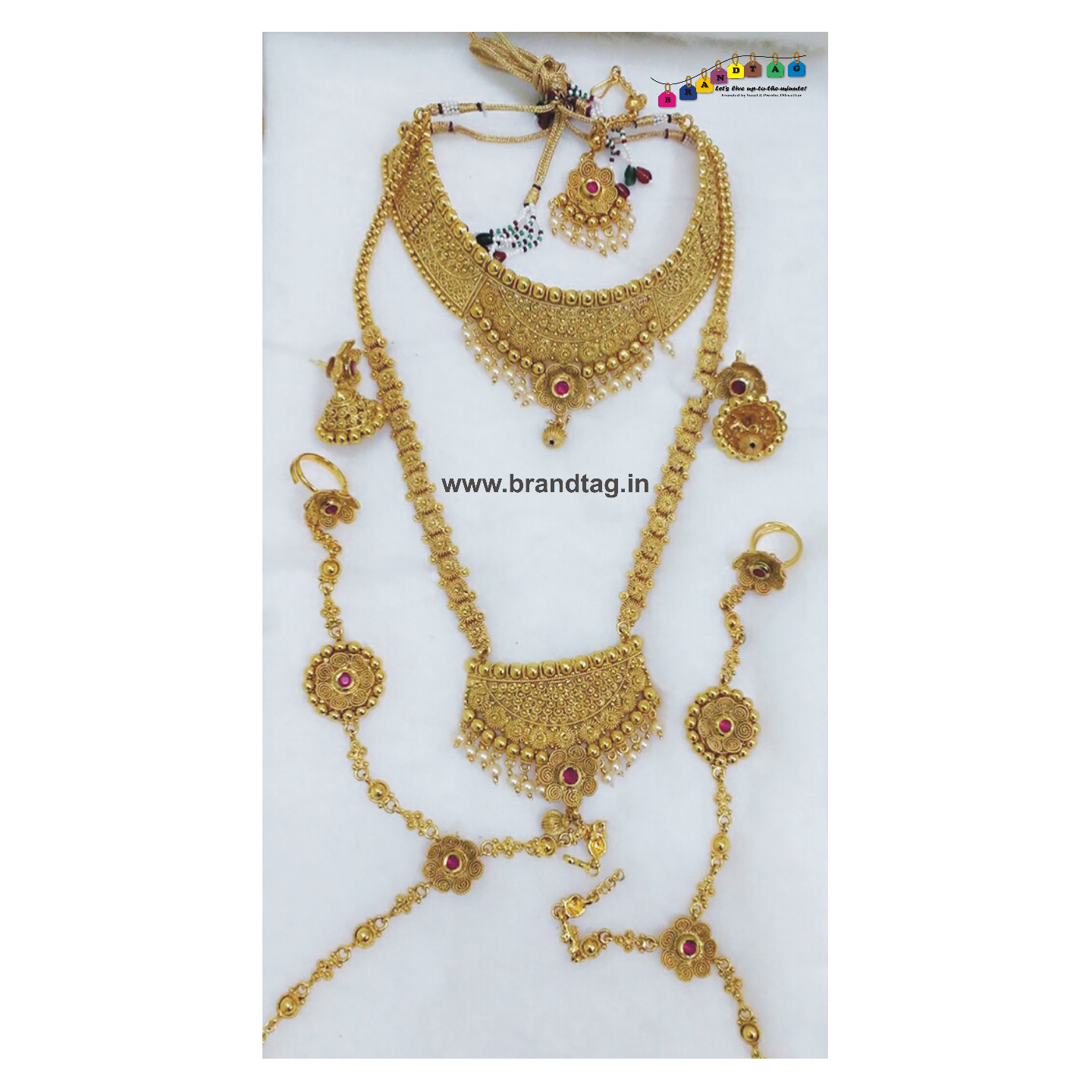 Royal Golden Combo Necklace Set!!