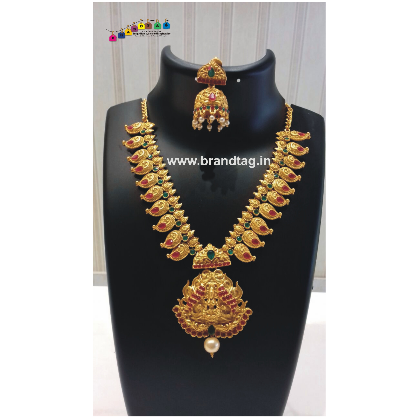 Diwali Collection - Long Golden Necklace set!